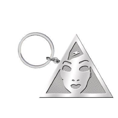 Drama Club Triangle Logo Keychain