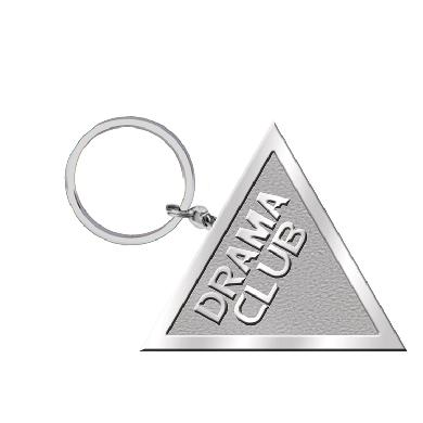 Drama Club Triangle Logo Keychain