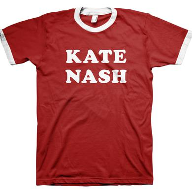 Kate Nash Red and White Logo Ringer Tee