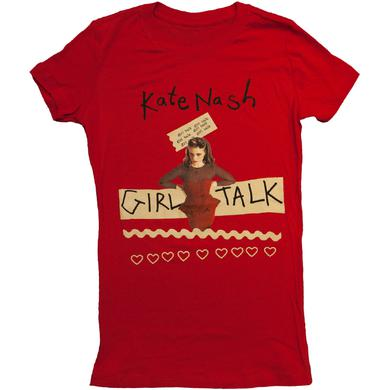 Red Kate Nash Girl Talk Tee