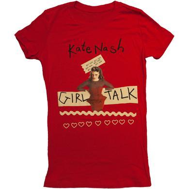 Red Kate Nash Girl Talk Tee