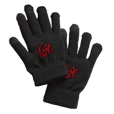 KoRn Embroidered Knit Gloves
