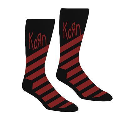 KoRn Striped Logo Crew Socks