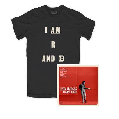 Leon Bridges R AND B Black Tee & Vinyl Bundle