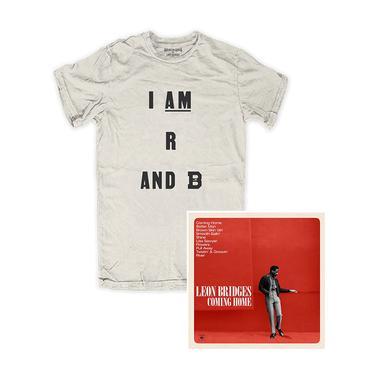 Leon Bridges R AND B White Tee & Vinyl Bundle