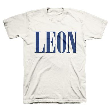 Leon Bridges Cream Logo Tee