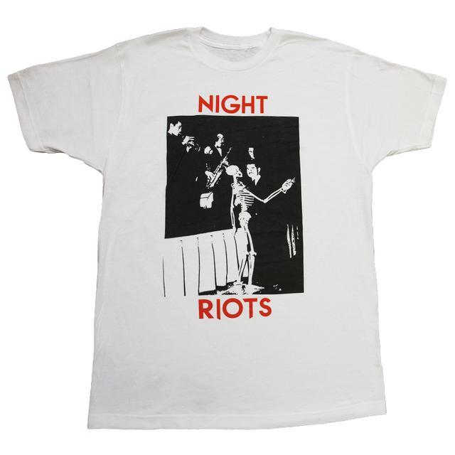 Night Riots White photo tee
