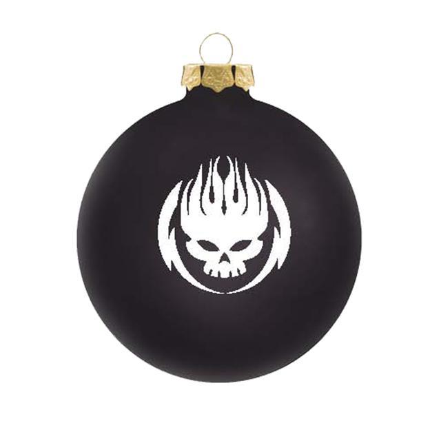 The Offspring White on black logo ornament