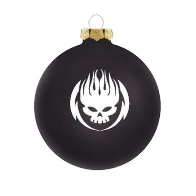 The Offspring White on black logo ornament