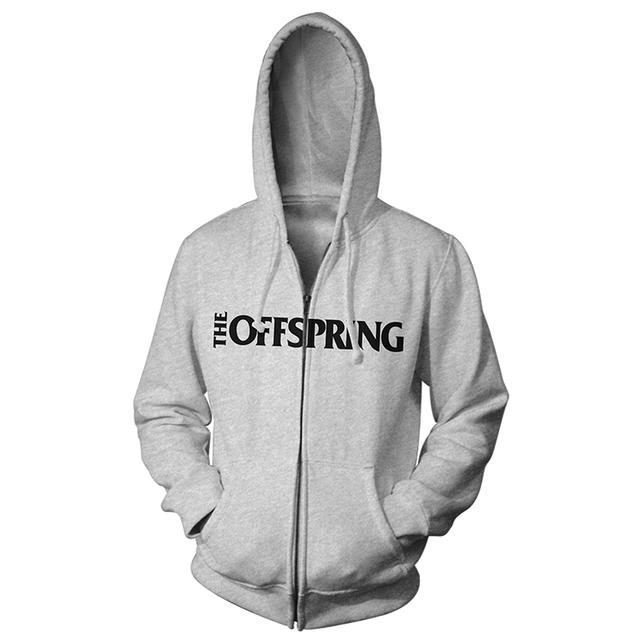 The Offspring Grey logo hoodie