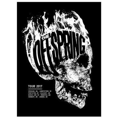 The Offspring Flaming Skull Canada Poster