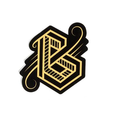 Phantogram BIG GRAMS Gold Logo Sticker