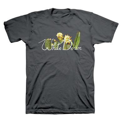 White Denim Cactus Logo Tee
