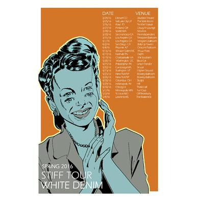 White Denim 2016 Tour Poster