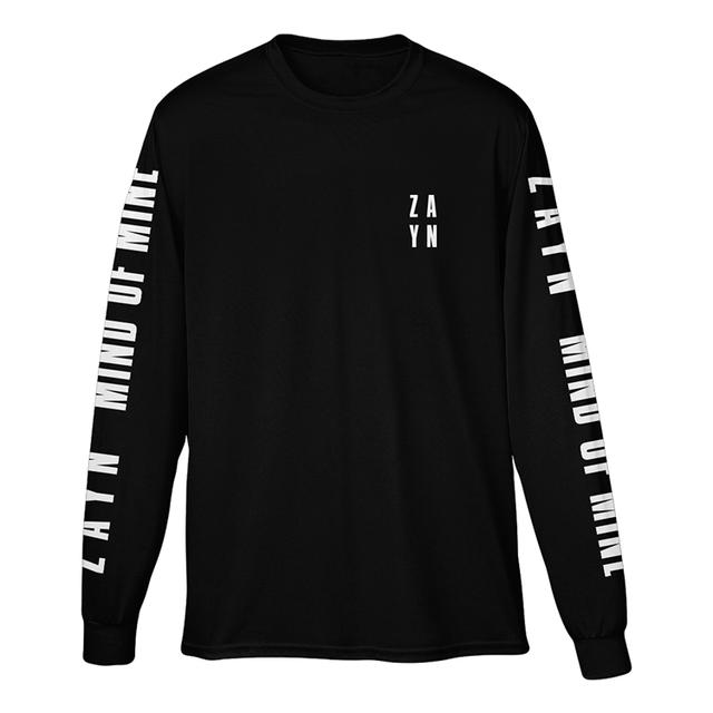 Zayn Stacked Logo Black Long Sleeve