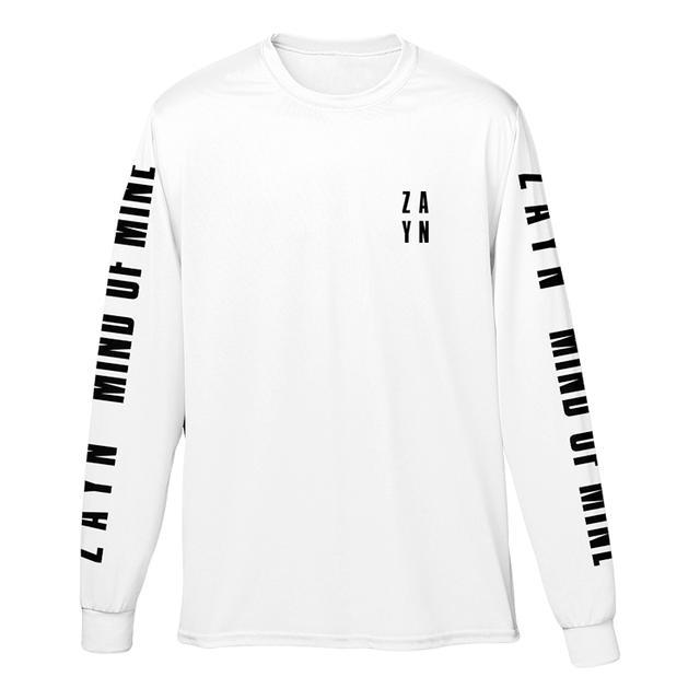 Zayn Stacked Logo White Long Sleeve