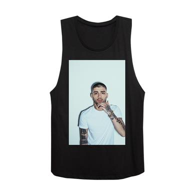 Zayn White Drop Ladies Muscle Tank