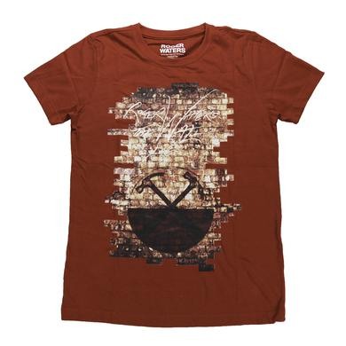 Roger Waters Women's Silver Logo Hammered Wall T-Shirt