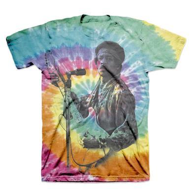 Jimi Hendrix Rainbow Spiral Tie Dye T-Shirt