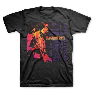 Jimi Hendrix Hendrix Men's Machine Gun Tee