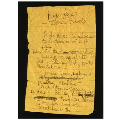Jimi Hendrix Purple Haze Jesus Saves Postcard