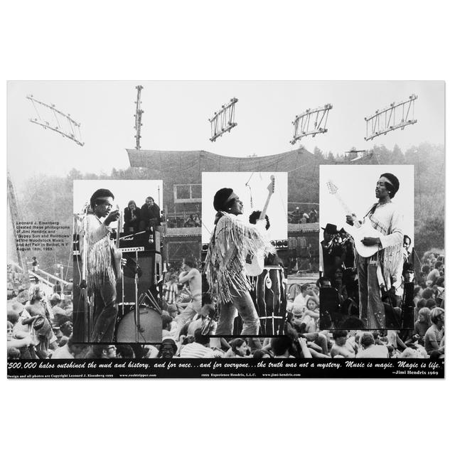 Jimi Hendrix Woodstock 69 (30th Anniversary Edition) Poster