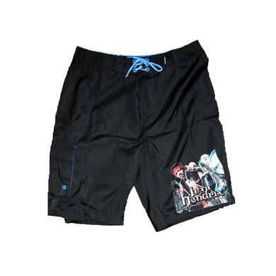 Jimi Hendrix South Saturn Delta Black Board Shorts