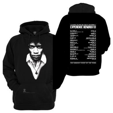 Jimi Hendrix Experience Hendrix 2016 Tour Monotone Hoodie