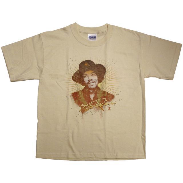 Jimi Hendrix Never Fade Away Tan Youth T-Shirt