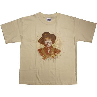 Jimi Hendrix Never Fade Away Tan Youth T-Shirt