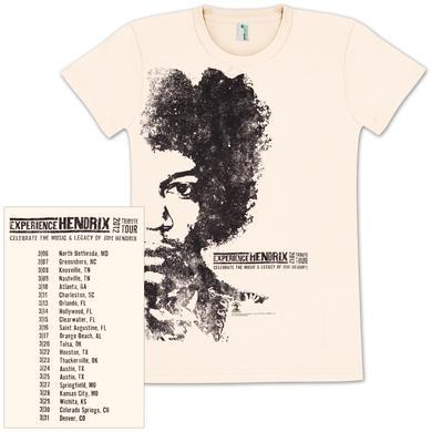 Jimi Hendrix Experience Hendrix 2012 Tour Ladies T-Shirt