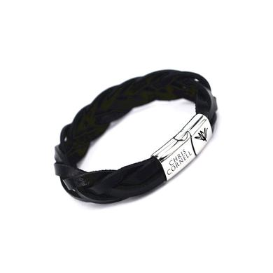 Chris Cornell Leather Engraved Bracelet