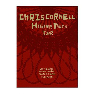 Chris Cornell Event Poster San Diego