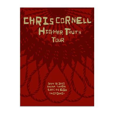 Chris Cornell Event Poster San Diego