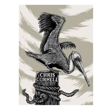 Chris Cornell Event Poster Santa Barbara