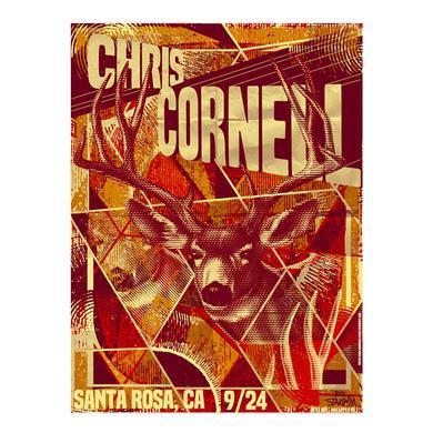 Chris Cornell Event Poster Santa Rosa
