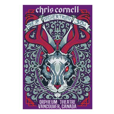 Chris Cornell Event Poster Vancouver