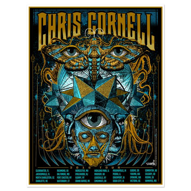 Chris Cornell 2016 Tour Poster