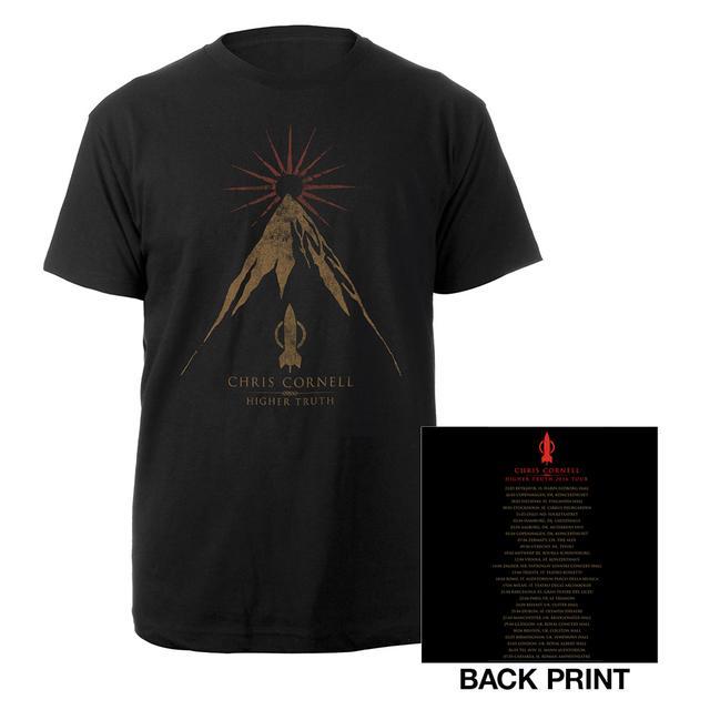 Chris Cornell Higher Truth Euro Itinerary T-shirt