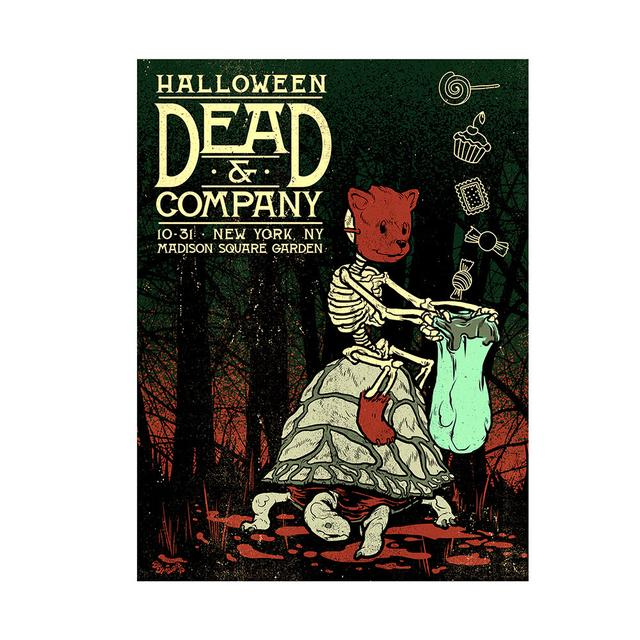 Dead Company Madison Square Garden New York Exclusive Halloween Event Poster