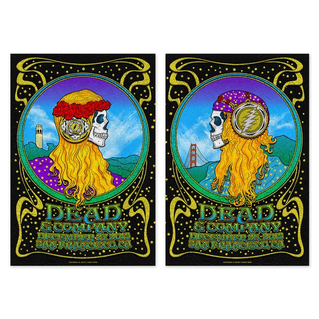 Grateful Dead San Francisco, CA Combined Exclusive Tour Poster