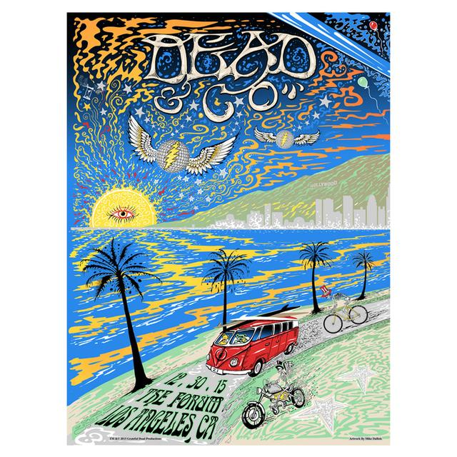 Grateful Dead The Forum Los Angeles Night One Exclusive Event Poster