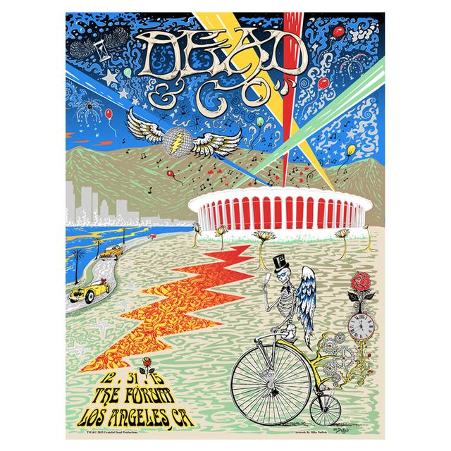 Grateful Dead The Forum Los Angeles Night Two Exclusive Event Poster