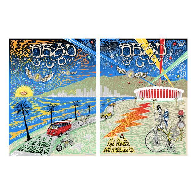 Grateful Dead The Forum, Los Angeles Combined Exclusive Tour Poster
