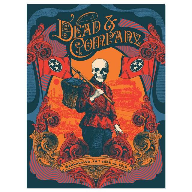 Grateful Dead Manchester, Tennessee Exclusive Event Poster