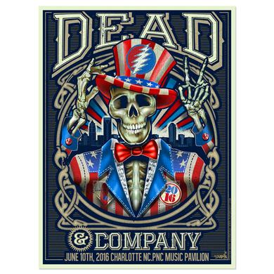 Grateful Dead Charlotte, North Carolina Exclusive Event Poster