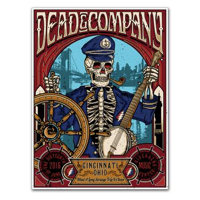 Dead & Company Cincinnati, Ohio Exclusive Event Poster