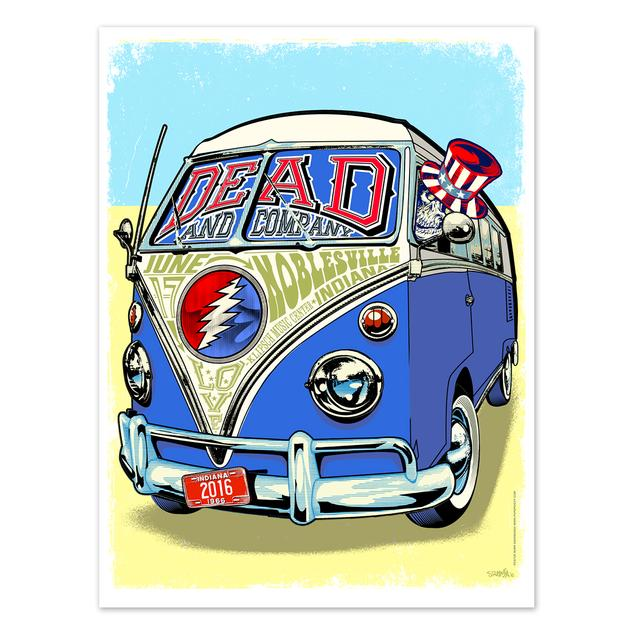 Grateful Dead Noblesville, Indiana Exclusive Event Poster