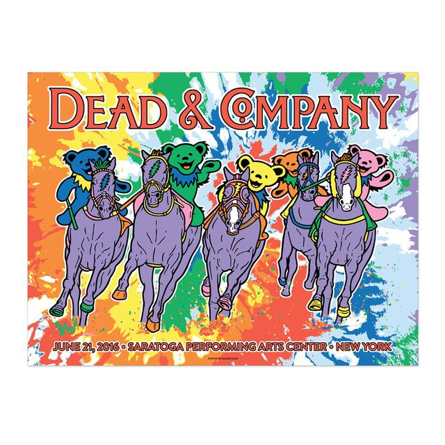 Grateful Dead Saratoga Springs, NY Exclusive Event Poster