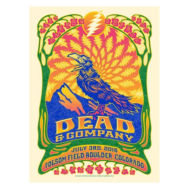 Grateful Dead Boulder, Colorado Night 2 Exclusive Event Poster